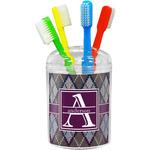 Knit Argyle Toothbrush Holder (Personalized)