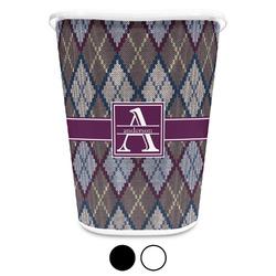 Knit Argyle Waste Basket (Personalized)