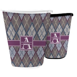 Knit Argyle Waste Basket (Personalized)