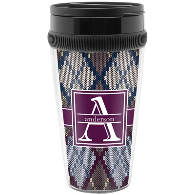 Knit Argyle Travel Mug (Personalized)
