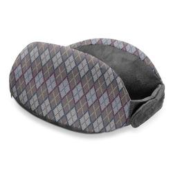 Knit Argyle Travel Neck Pillow (Personalized)
