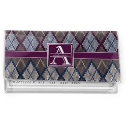 Knit Argyle Vinyl Checkbook Cover (Personalized)