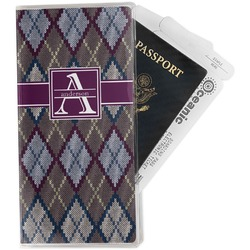 Knit Argyle Travel Document Holder