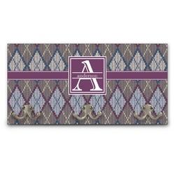 Knit Argyle Wall Mounted Coat Rack (Personalized)