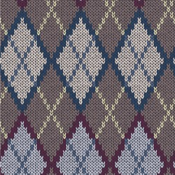 Knit Argyle Wallpaper & Surface Covering