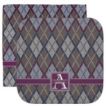 Knit Argyle Facecloth / Wash Cloth (Personalized)
