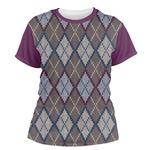 Knit Argyle Women's Crew T-Shirt (Personalized)