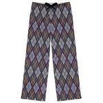 Knit Argyle Womens Pajama Pants (Personalized)