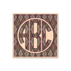 Knit Argyle Genuine Wood Sticker (Personalized)