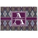 Knit Argyle Woven Mat (Personalized)