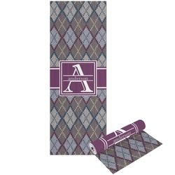 Knit Argyle Yoga Mat - Printable Front and Back (Personalized)
