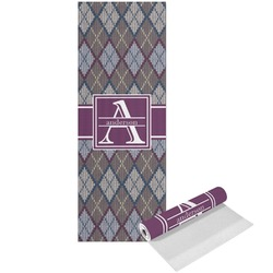 Knit Argyle Yoga Mat - Printed Front (Personalized)