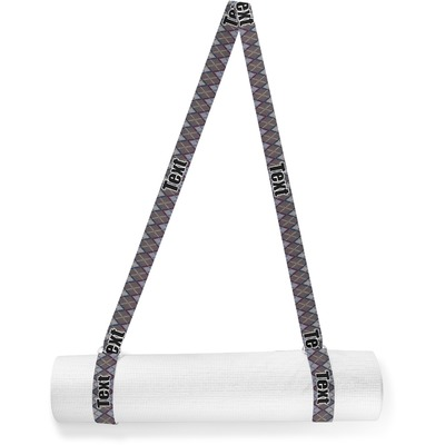 Knit Argyle Yoga Mat Strap (Personalized)
