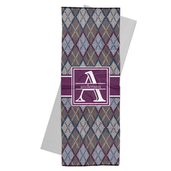 Knit Argyle Yoga Mat Towel (Personalized)