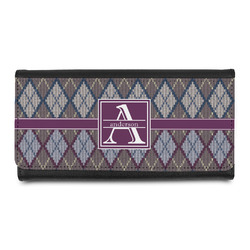 Knit Argyle Leatherette Ladies Wallet (Personalized)