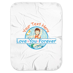 Love You Forever Baby Swaddling Blanket w/ Name or Text