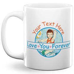 Love You Forever 11 Oz Coffee Mug - White (Personalized)