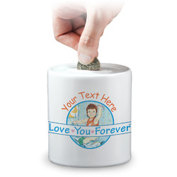 Love You Forever Coin Bank (Personalized)