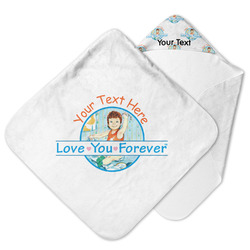 Love You Forever Hooded Baby Towel w/ Name or Text