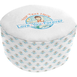 Love You Forever Round Pouf Ottoman (Personalized)