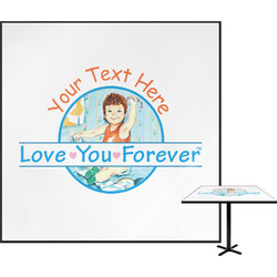 Love You Forever Square Table Top (Personalized)