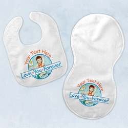 Love You Forever Baby Bib & Burp Set w/ Name or Text