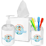Love You Forever Acrylic Bathroom Accessories Set w/ Name or Text