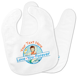 Love You Forever Baby Bib w/ Name or Text