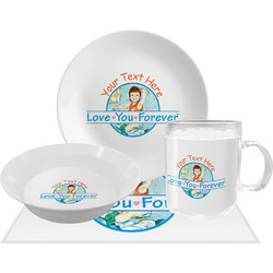 Love You Forever Dinner Set - 4 Pc w/ Name or Text