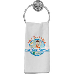 Love You Forever Hand Towel - Full Print w/ Name or Text