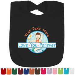 Love You Forever Cotton Baby Bib - 14 Bib Colors (Personalized)