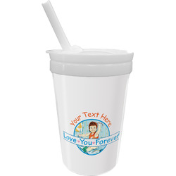 Love You Forever Sippy Cup with Straw (Personalized)
