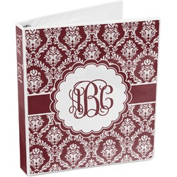 Maroon & White 3-Ring Binder (Personalized)