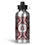 Maroon & White Water Bottle - Aluminum - 20 oz (Personalized)