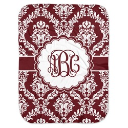 Maroon & White Baby Swaddling Blanket (Personalized)