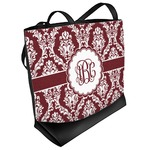 Maroon & White Beach Tote Bag (Personalized)