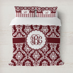 Maroon & White Duvet Cover (Personalized)