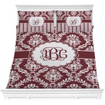 Maroon & White Comforters (Personalized)