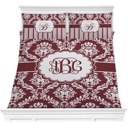 Maroon & White Comforter Set (Personalized)