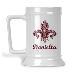 Maroon & White Beer Stein (Personalized)
