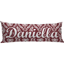Maroon & White Body Pillow Case (Personalized)