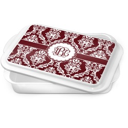 Maroon & White Cake Pan (Personalized)