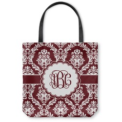 Maroon & White Canvas Tote Bag (Personalized)