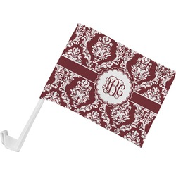 Maroon & White Car Flag (Personalized)