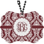 Maroon & White Rear View Mirror Decor (Personalized)