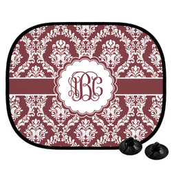 Maroon & White Car Side Window Sun Shade (Personalized)