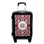 Maroon & White Carry On Hard Shell Suitcase (Personalized)