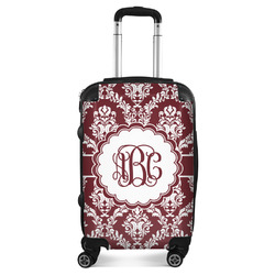 Maroon & White Suitcase (Personalized)
