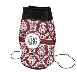 Maroon & White Neoprene Drawstring Backpack (Personalized)
