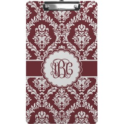 Maroon & White Clipboard (Legal Size) (Personalized)